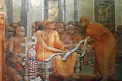 Kelaniya Temple Painting (IMG_2222b) (Dennis Candy) Tags: srilanka ceylon serendip serendib art kelaniya temple buddhism solosmasthana holy sacred religion olaleaf artist book painting soliasmendis culture tradition heritage