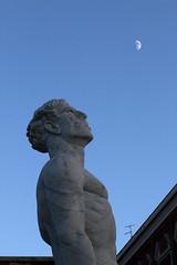 """""""My mistress' eyes are nothing like the sun"""" (@ntomarto) Tags: antomarto ntomarto italia italy rome roma fotoitalico statua statue cielo sky luna moon explore"""