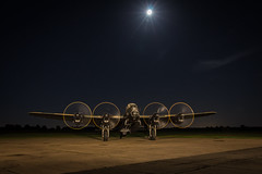 Mission ready (Nimbus20) Tags: avro lancaster bomber command raf east kirkby lincolnshire moon mission night propeller preservation tle enactors preserved sky stars ramp fields apron cockpit pilot clouds