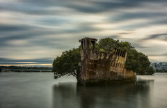 Slow Decay (Crouchy69) Tags: sunrise dawn landscape seascape ocean sea water clouds sky long exposure shipwreck ship wreck ss ayrfield homebush bay sydney australia