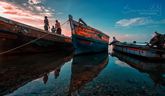 Boats of Rameswaram (Saravana Raj) Tags: rameswaram fishing boats anchored reflection fishermen
