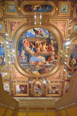 "Reproduction of ""Apotheosis of Venice"" by famed painter Paolo Veronese, located in the entrance to the Grand Canal Shoppes. The Venetian in Las Vegas. (GMLSKIS) Tags: lasvegas nevada sincity ceiling painting venetian apotheosisofvenice"