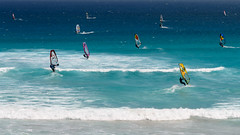 Wind Surfers (Ron Scubadiver's Wild Life) Tags: south africa nikon sea wind surfing sailing sport capetown people