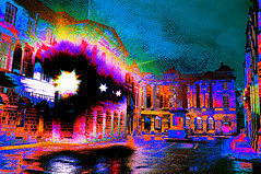 Parliament Square (Brian Travelling) Tags: parliamentsquare edinburgh abstract vivid vibrant street streetscene pentaxkr adobe photoshop