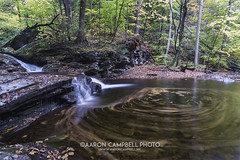 Waters Meet Swirl, 2016.10.17 (Aaron Glenn Campbell) Tags: rgsp rickettsglen statepark fallstrail watersmeet luzernecounty pennsylvania outdoors nature autumn fall foliage longexposure swirl sony a6000 ilce6000 sonyalpha6000 a6k mirrorless rokinon 12mmf2edasifncs wideangle primelens manualfocus emount tiffen ndfilter nuetraldensity