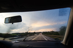 Rush (ShurperMario) Tags: highway autopista coche car sunset rush rain lluvia sky clouds cielo nubes nikon d5100 1224 germany alemania braunschweig