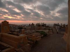 C'est bientot la toussaint... (JulienLec) Tags: cimetiere tombe maroc rabat mer nuage soir