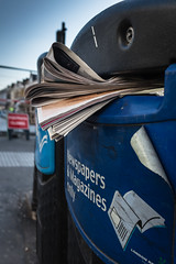Yesterdays News (Cheryl Meek ARPS) Tags: newspaper recycling bbin aftf