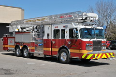 Brand new SFFD Unit 3 2012 Spartan / Rosenbauer EXT T-Rex 115 foot tower 2000/300/30 foam quint fire truck Smiths Falls, Ontario Canada 04082013 Ian A. McCord (ocrr4204) Tags: ontario canada 911 vehicle mccord emergency smithsfalls ianmccord ianamccord