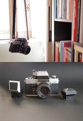 Camera porn - Exakta RTL1000 (Valerio Farina) Tags: analog digital pen 35mm cameraporn zuiko1442mm exaktartl1000 valerinho meyeroreston50mmf18 olympusepl1