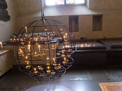 Votive candles (quinet) Tags: church candles sweden stockholm interior bougies kerzen votive 2012
