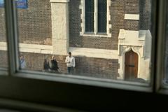 Waiting (Gary Kinsman) Tags: london canonrebelxt canon1855mm camdentown nw1 2008 camdenroad candid voyeur voyeurism stmichaelschurch church streetphotography streetlife waiting window camden 32b 32bcamdenroad