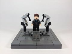 Iron Man: Suit up Gantry (Tr0jinH0rse) Tags: lego display mini ironman vignette tonystark gantry ironman2 ironman3 uploaded:by=flickrmobile flickriosapp:filter=nofilter