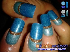 Cheryl Sky and Electric Blue (invertednailsystems) Tags: uk pink orange black art yellow glitter training silver gold amazing neon pretty im nail powder course nails salon technician extension inverted false ims extensions nailart courses moulds enuk invertednailsystems easynail easynailuk