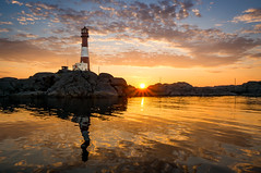 Sunset at Eigery lighthouse [Explored #2] (Richard Larssen) Tags: