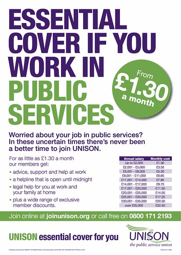 Essential cover at work - join UNISON now