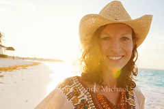 mexico girl (*michael sweet*) Tags: sea vacation portrait woman beach smile smiling female mexico happy monica carefree roo akumal quintana surise