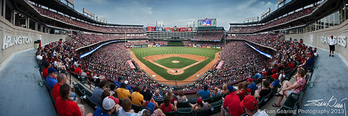 Rangers Ballpark in Arlington Daytime Panorama