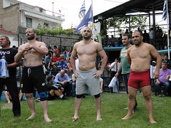 Before the wrestling (d.mavro) Tags: shirtless sexy sport fighter body wrestling traditional sensual arena greece strong serres grecoroman pehlivan gre athlet restling nigrita  pahlavan pehlwan