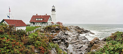 Portland Head Light Panorama (intricate_imagery-Jack F Schultz) Tags: portland maine atlanticocean rockyshore portlandheadlighthouse
