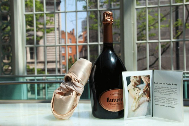 Ruinart rosé and a pointe shoe © ROH/Rachel Edmunds