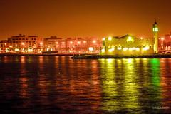 Red Sea at night,Jeddah KSA. (b7ral3uooon) Tags: red sea night view mosque jeddah ksa