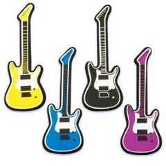 Guitar Cupcake Toppers Set of 12 (WUPPLES) Tags: cupcake guitar toppers