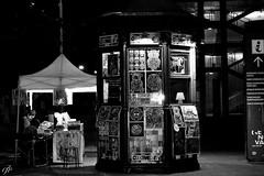 """Night Bench"" (giannipaoloziliani) Tags: nikond3200 nikon street giannipaoloziliani liguria italy biancoenero streetphotography downtown market citynightlife city portoantico notte portoanticogenova genova night blackandwhite monochromatic bench"