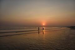sunset beach @Tajpur, Digha (Nitya...) Tags: 2015 december digha in india nikon tajpur westbengal attraction bayofbengal beach holidays mandarmani npurbamedinipur newyear tourism tourist travelphotography weekenddestination yearend