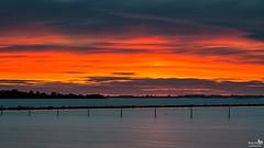 Afterglow and CLouds (BraCom (Bram)) Tags: bracom sunset zonsondergang fence hek cloud wolk afterglow le longexposure langesluitertijd poles palen clouds wolken lee bigstopper dirksland goereeoverflakkee zuidholland nederland southholland netherlands holland canoneos5dmkiii widescreen canon 169 canonef24105mm bramvanbroekhoven nl