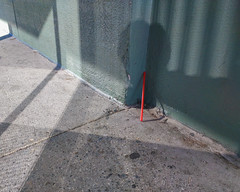 Bus Stop Refractions (Alec C Miller) Tags: street color light refraction shadow city urban abstract los angeles digital