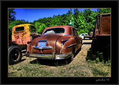 Old Chrysler (the Gallopping Geezer 3.8 million + views....) Tags: car automobile truck oldie vintage classic old historic abandoned decay decayed worn derelict faded masonmotors collection forsale mason mi michigan upperpeninsula past canon 5d3 tamron 28300 geezer 2016