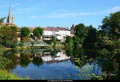 """Le village et son reflet (Brigitte .. . """"Tatie Clic"""") Tags: 201408033 aot t vieuxvillage clocher refletsdansleau reflets letemplesurlot lotetgaronne aquitaine francesudouest citmdivale sansretouche lac tang plandeau"""