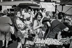 Market at Livorno (Petr Machan) Tags: italy tuscany zeiss ikon zm voigtlander 3512 rollei infrared diafine livorno market bw black white