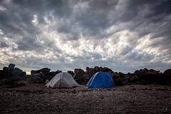 Camp (gerf88) Tags: gaspesie summer beach saintlaurent tent cloud gulf camp sky canada 2016 perce seaside