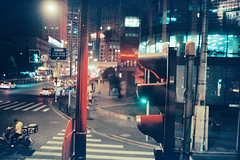 Red Light, Bund, Shanghai, China (jev) Tags: summiluxm35mmf14asphfle zeissikonzm analog china film filmsuperia fuji ishootfilm nightphotography nightscapes redlight shanghai