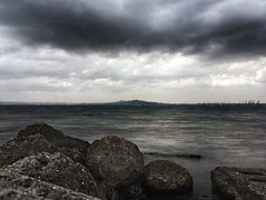 toward (Valerie Guseva) Tags: iphone5s iphone impression sea rocks seascape landscape nature water clouds sky outdoor storm