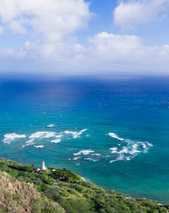 Diamondhead Lighthouse and the Greater Pacific (Jon Wojan) Tags: hawaii olympus omd em1 omdem1 pacific diamondhead lighthouse landscape expansive telephoto aerial tropic tropics tropical vacation scenic