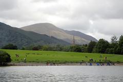 e keswick park (Simon -n- Kathy) Tags: keswick england lakedistrict lakelands hike rain walk castlerigg
