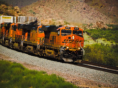 Thru the Valley of Crozier, I will fear the rattle of the rattlesnake! (Douglas H Wood) Tags: bnsf beauty crozier canyon landscape westbound arizona trains desert mojave county