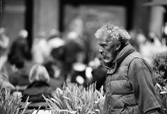 The look. (Carlos Arriero) Tags: newyork estadosunidos carlosarriero thelook lamirada nuevayork retrato portrait blancoynegro blackandwhite gente people urban street calle urbana mirada look dof bokeh nikon d800e tamron 70200mm f28 fotosntesis robado stolen