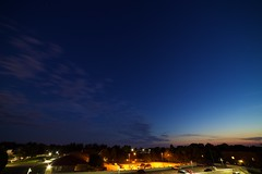 balcony views (viewsfromthe519) Tags: balcony views evening sky stars sunset blue clouds orange golden pink purple night parkinglot saintthomas stthomas ontario canada