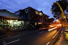 Street traffic (A. Wee) Tags: ubud bali  indonesia  traffic night street