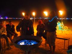 Iron Monkeys Piazza di Ferro (michicat) Tags: burningman brc blackrockcity playa nevada burningmanatnight fire fireart