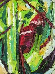 "Fragment of ""Leeks with an egg, a green salad and jerked ham""  #FoodArt #KitchenArt #OilOnCanvas #PaletteKnife #Impasto #OilPainting #Paintings #Texture #TexturePainting #KnifeArt #Details (alisa_denoizz) Tags: foodart kitchenart oiloncanvas paletteknife impasto oilpainting paintings texture texturepainting knifeart details"