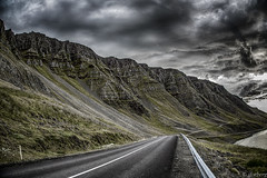 Hvalfjrur, Iceland (jforberg) Tags: 2016 iceland mountain sky sea road cloudy cloud color canon