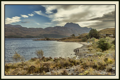 slioch and loch maree 1 (judmac1) Tags: loch mountain scotland highlands bay shore lochmaree slioch munro wester ross