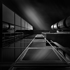 Mirror Play (Kerstin Arnemann AMIPP ASICIP Fine Art Photographe) Tags: architecture architectural fineart structure reflection modern monochrome blackandwhite canon buildings building travel
