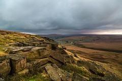 Buckstones Sunset Oct 2016 094 - The rain has moved in over Wessenden so that was my walk cancelled (Mark Schofield @ JB Schofield) Tags: pennines pennineway peat rocks buckstones yorkshire huddersfield watershed moors moorland marsden bog england landscape sunset canon 5dmk3 pulehill standedge