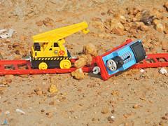 Thomas Slipped Kevin Helping to take track (pondicherry arun) Tags: thomasfriends thomas kevin victor bash percy toy train pondicherry puducherry pondicherryarun